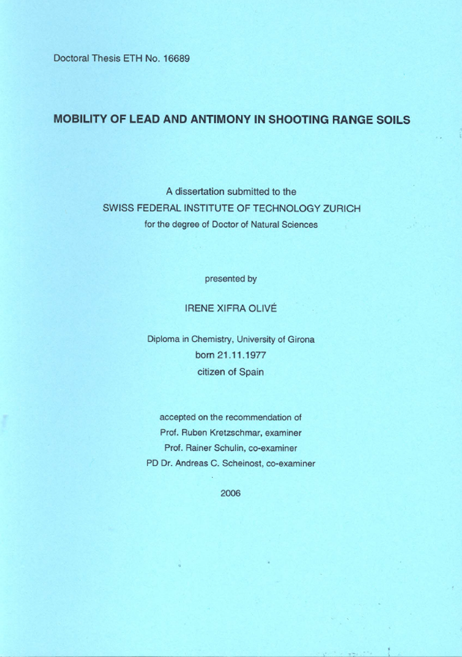 Phd thesis on chemistry